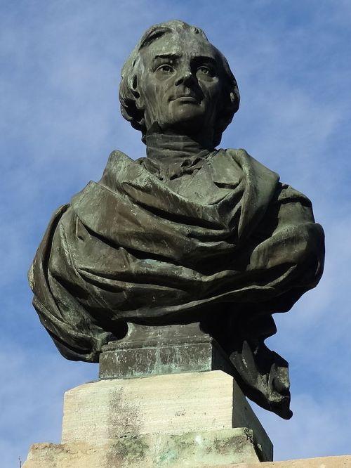 Busto de Bastiat em Mugron - Aquitânia