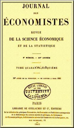 Jornal dos Economistas - Ed. Gilbert Guillaumin