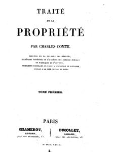 Traité de la Propriété de Charles Comte