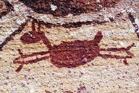 Pintura rupestre no Parque Nacional do Catimbau (ou da Capivara?)